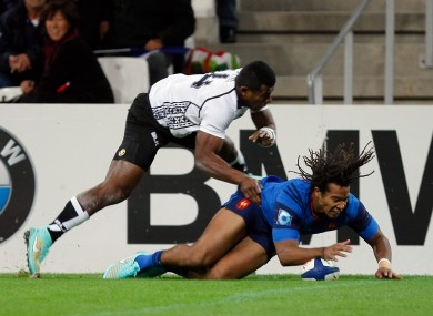 The Racing Metro winger crossed the line three times.