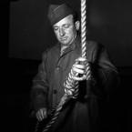 US Master Sergeant John C. Wood acted as chief hangman of the principal Nazi war criminals.<span class=