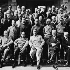 Here are Hitler's former henchmen clustered in the Anglo-American jail for top-ranking Nazis at Mondorf-Les-Bains, Luxembourg in the summer of 1945. <span class=