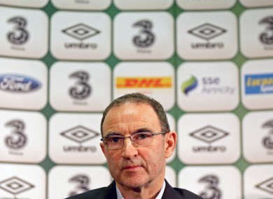 Republic of Ireland manager Martin O'Neill.
