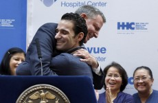 New York Mayor declares city Ebola-free alongside cured patient