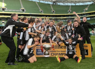 Raheny United celebrated in the Aviva Stadium -- but by that stage, Clare Conlon was playing her second final of the afternoon.