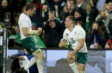 Rhys Ruddock scores Ireland's opening try to stun South Africa