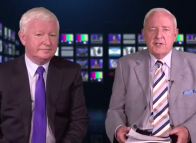 Frank Flannery and Bill O'Herlihy in a video preview of 'The Flannery Files'