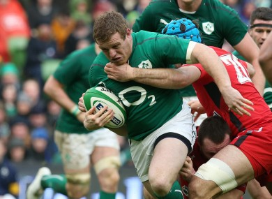 Cronin is making his seventh start for Ireland.