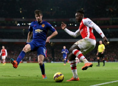 The United defence held strong at the Emirates.