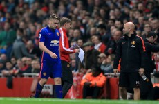 Luke Shaw to miss 'a few weeks' says Van Gaal while Falcao could feature against Hull