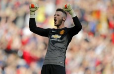 Manchester United could be without David de Gea for Arsenal clash next weekend