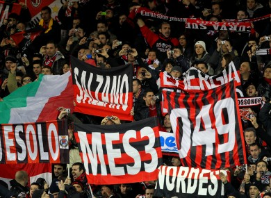 There's sure to be a hostile atmosphere at the San Siro.