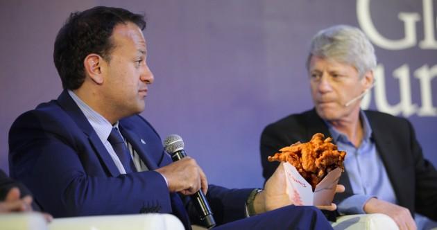 Leo Varadkar really loves chicken wings