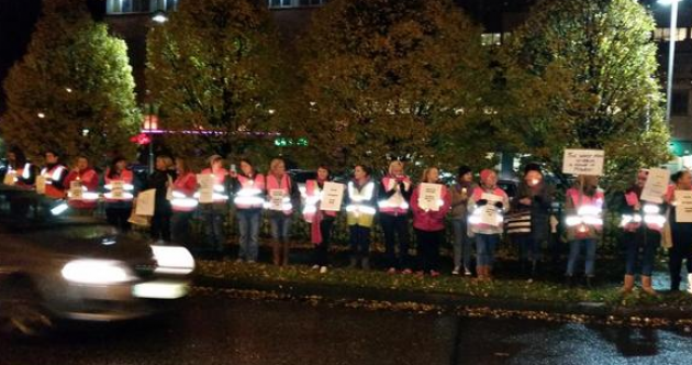 Hundreds of women turn out for ANOTHER Garda Station vigil