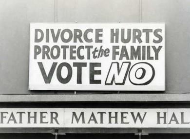 Anti-divorce poster in 1986.