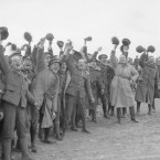 Christmas Day cheer during a football match on the Balkan Front.<span class=