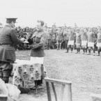 The Fanshawe cup is presented to the captain of the winning British Army team.<span class=