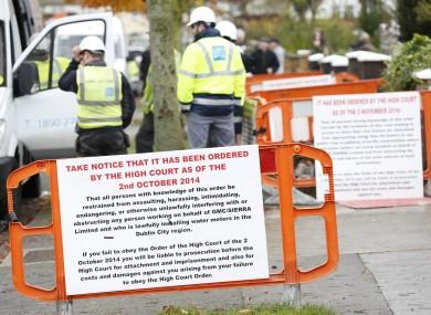 GMC/Sierra workers installing water meters in Donaghmede, Dublin.