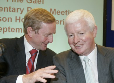 Enda Kenny and Frank Flannery in happier times.