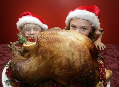 The ideal turkey should be approximately four times the size of a child's head. Maybe.