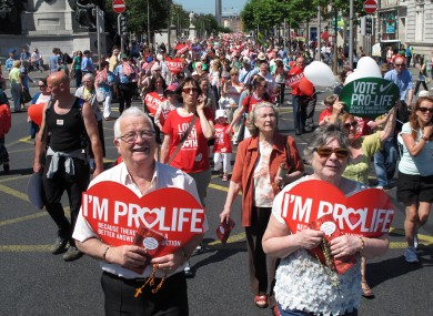 Pro-life march in Dublin, July 2013