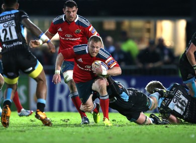 Keith Earls hasn't featured for Munster this season.