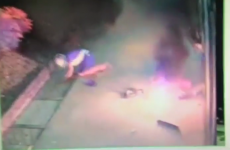 Bungling thief caught on camera trying to blow up ATM… and knocking himself over