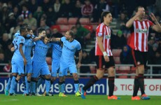 Four-star Man City overcome 'bogey team' Sunderland