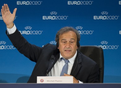 Platini also wants to amend the offside rule.