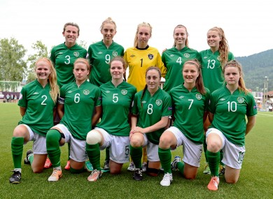 The Ireland under-19 women reached the semi-finals of the European Championships last summer.