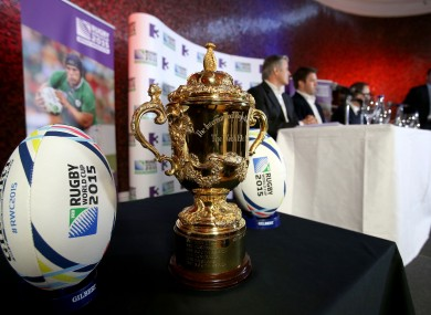The Webb Ellis Cup, what the Rugby World Cup is all about.