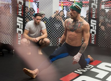 Tom Egan has been helping to prepare Conor McGregor for tomorrow night's UFC Boston main event.