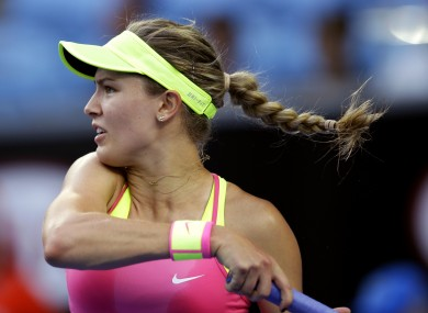 Eugenie Bouchard is on e of tennis' rising stars.