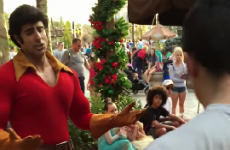 Watch a man challenge a Disney villain to a push-up contest…and lose spectacularly