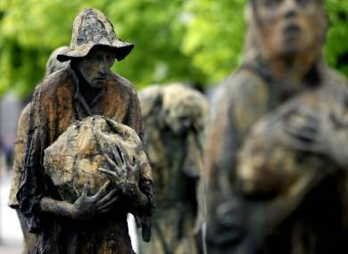 The Famine Memorial on Dublin's quays