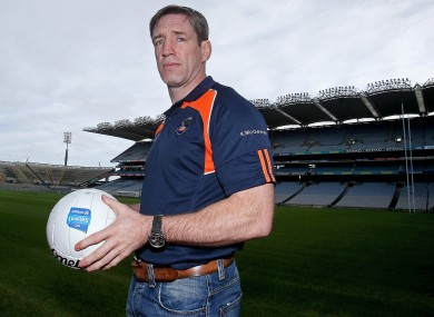 Kieran McGeeney at the launch of the Allianz football league yesterday in Croke Park.