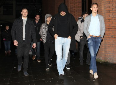 Januzaj on a recent night out with United team-mates.