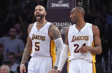 Kobe Bryant is not impressed with your fighting skills Carlos Boozer