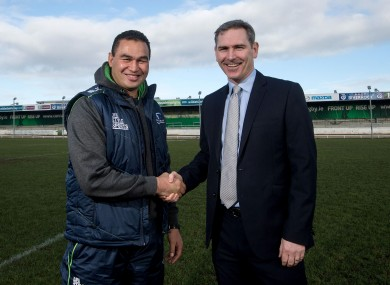 Lam and Connacht CEO Willie Ruane.