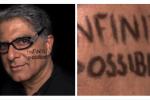 Deepak Chopra writes 'possibilities' on his face, spells 'possibilities' wrong