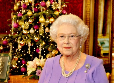 The Queen during her Christmas speech last year