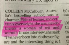 'Plain and overweight': This dreadful obituary of a female author is causing a storm online