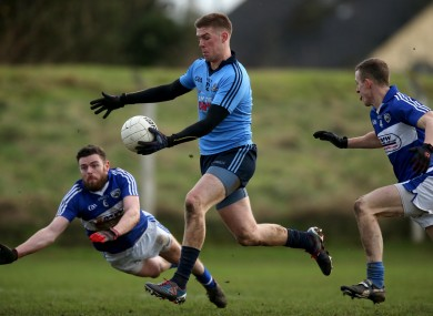 Shane Carthy on the attack for Dublin in today's game.