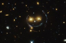 Look at the smiley face NASA found in space