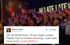 Wait, was EVERYONE drunk on the Late Late last night?