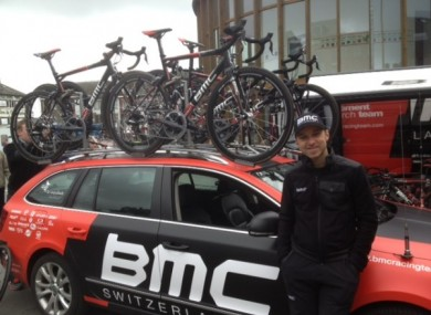 Murray with the BMC Cycling team.