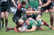 Connacht back into sixth spot as they edge out 14-man Dragons