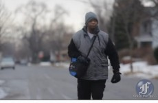Tired of your commute? This man walks 21 miles to and from work every day