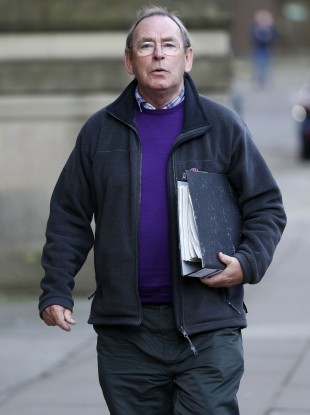 Talbot entering Manchester Minshull Street Crown Court earlier this month