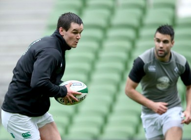 Sexton as this afternoon's captain's run at the Aviva Stadium.