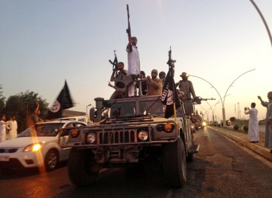 File photo: Fighters from the Islamic State group.