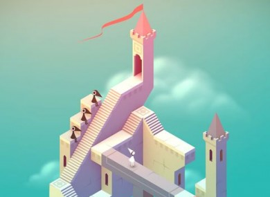 Capturing footage of games like Monument Valley (pictured) is one use of recording phone footage.