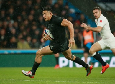 Sonny Bill Williams returned to the All Blacks during the November internationals.